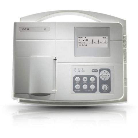 Electrocardiógrafo de 1 canal SE-100 con pantalla LCD