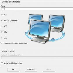 Opción trabajo en red LAN para Cardiax PC-ECG