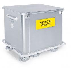 Circuito de residuos hospitalarios: carros para recogida y transporte de residuos peligrosos